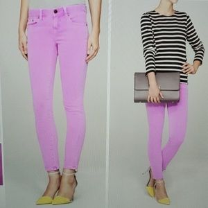 J Crew Toothpick skinny ankle jeans 28 faded pink